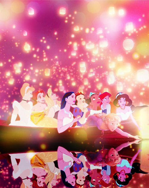 aladdin, cinderella, disney, disney princesses, pochantus, rapunzel, snow white, the little mermaid