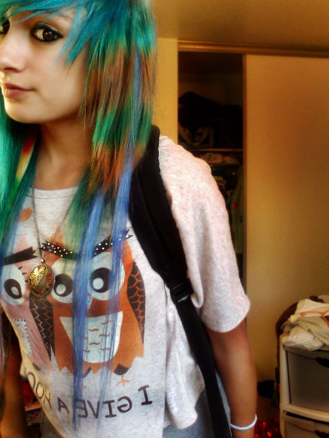 alt, alternative, beauty, blue hair, cute