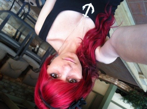 alternative, alternative girl, anchor, beautiful, beauty, color hair, cute, girl, hair, hipster, pretty, red hair