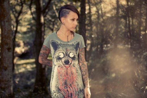 alternative, alternative girl, beautiful, beauty, drop dead, fashion, girl, hair, inkd, inked, pretty, sidecut, style, tattoo, tatuagem, undercut