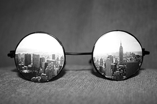 amazing, black, black and white, cute, glasses, new york, photograph, white