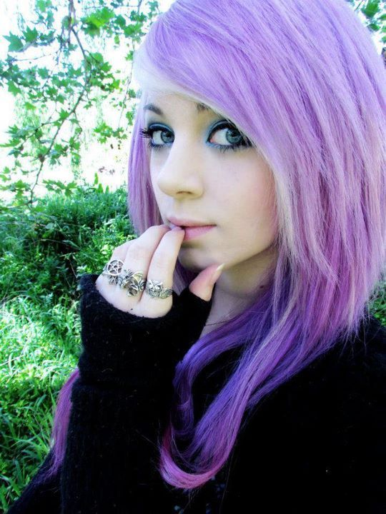 amber mccrakin, cute, gorgeous, purple hair, scene queen