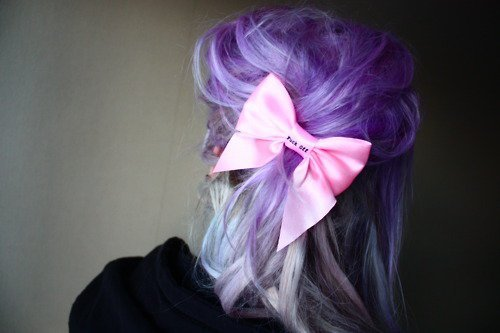 angelica murderotic, beautiful, fashion, girl, hair, iphone, photography, purple, ribbon