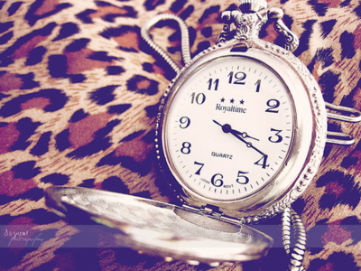 animal print, art, artsy, clock, clock necklace
