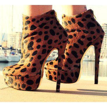 animal print, black, fashion, high heels, platforms