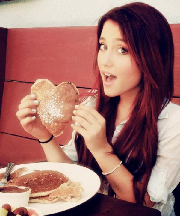 ariana grande, breakfast, cat valentine, cute, girl, heart, pretty