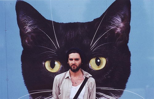art, black cat, blog, cool, guy