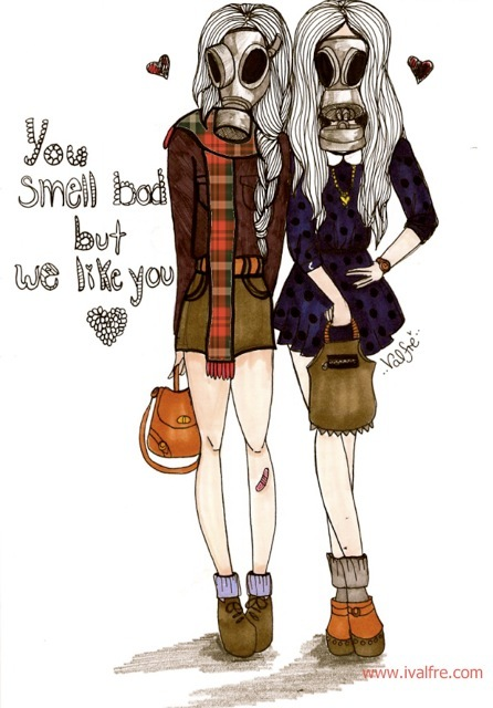 art, cute, drawing, fashion, friendship, funny, girls, illustration, ilse valfre, love, plaid, quote, text, valfre