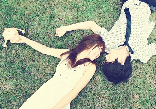 asia, asian, asn, azn, boy, couple, cute, forever, girl, grass, i love you, korea, korean, laying, love, mine, stare, yours