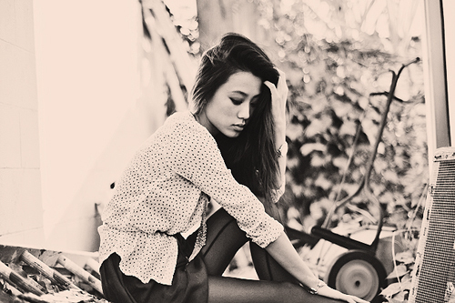 asian, beautifull, black and white, fashion, girl