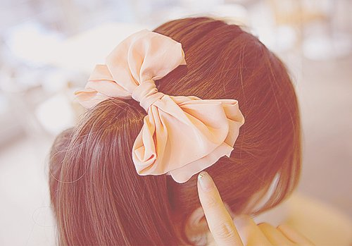 asian, bow, brunette, cute, fashion, glamour, hair, loop, pink, ribbon, stylish, sweet