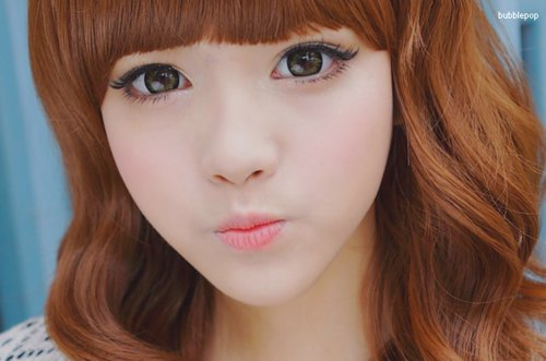 asian, circle lenses, cute, eyes, korean