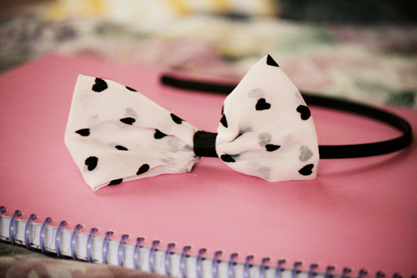 asos, bow, cute, fashion, girlie, headband, hearts, photography, pink, style