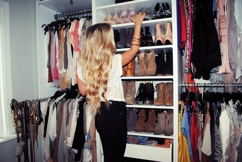 awesome, black, blonde, boots, closet