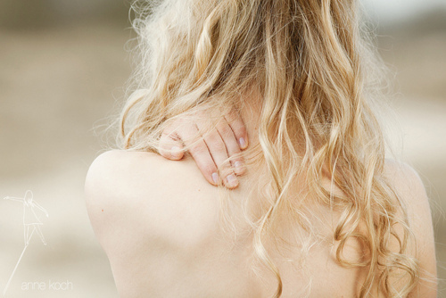 back, blonde, curly, delicate, feminine