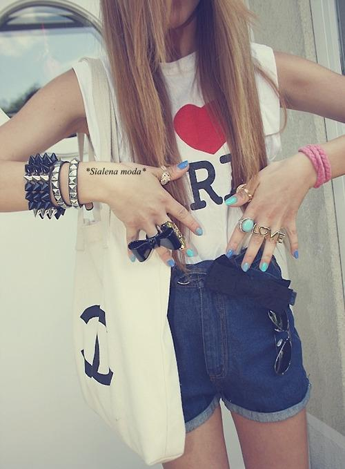 bag, blonde, chanel, cute, fashion, girl, girls, hair, heart, i love, lol, love, nail, paris, ribbon, rings, skinny, smile, sweet, wow, yeah