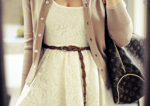 bag, cute, dress, fashion, lace