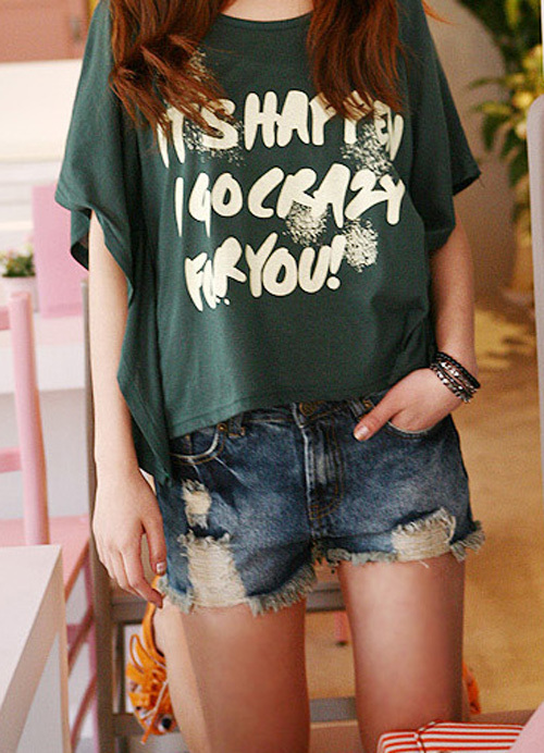 baggy shirt, bracelets, crazy, cute, dark green, fashion, happy, japanese, photography, pigtails, short shorts