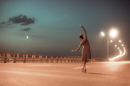 ballet, beautiful, dancing, girl, lights, photography, road, smooth