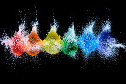 balloons, colorful, cool, photo, water, water balloon
