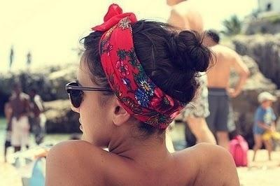 bandana, beach, holiday, sea, sun, tan
