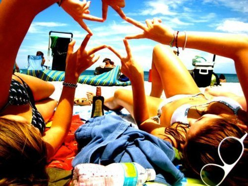 beach, bestfriend, friendship, girls , sky