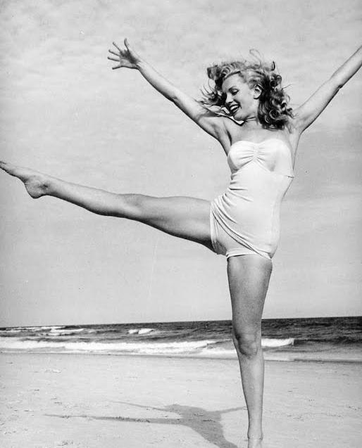 beach, black and white, blonde, dance, landscape