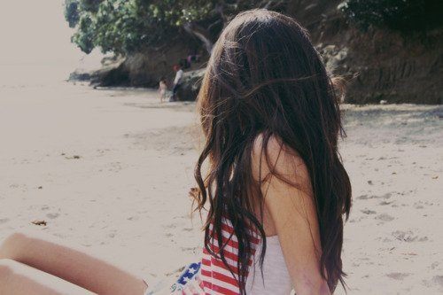 beach, brown, cute, fashion, girl, hair, long hair, photo, photographies, photography, pictures, pretty, sand, style, vintage, woman