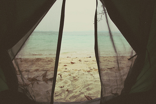 beach, coast, ocean, photo, sea, tent, water, waves