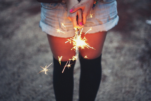 beautiful, beauty, cold, fire, firwork, girl, inspiraton, legs, light, lights, nails, nice, photo, short, think