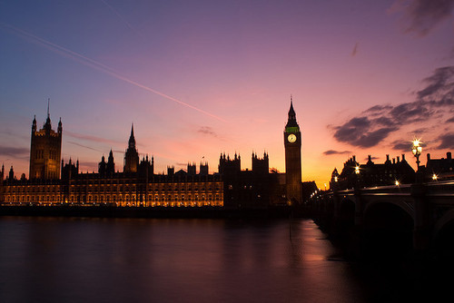 beautiful, big ben, city, london, sunset