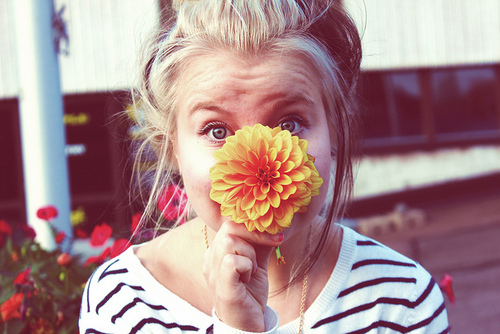 beautiful, blonde, cool, cute, fasion, flower, girl, photo, photography, pretty