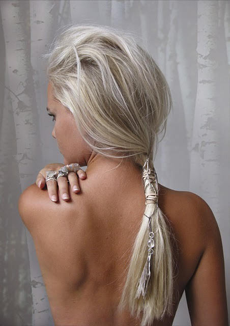 beautiful, blonde, jewlery, pony tail, pretty