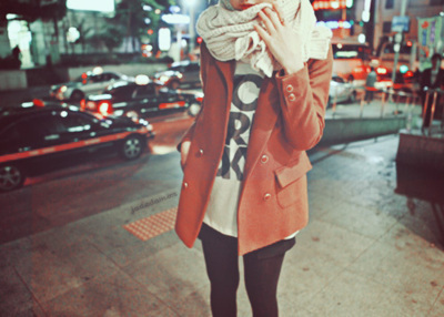 beautiful, blouse, car, city, cold
