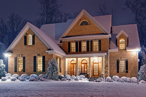 Beautiful Christmas House Photography Snow The One My