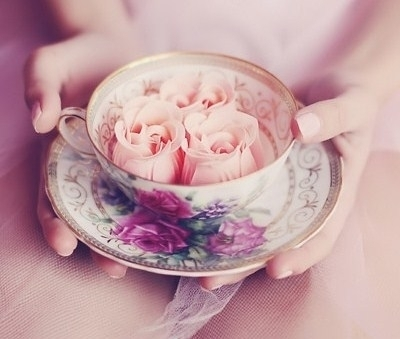 beautiful, flower, offering, pastel, pink, roses, sweet, teacup