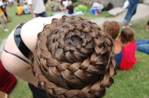 beauty, braid, brown, cute, fashion