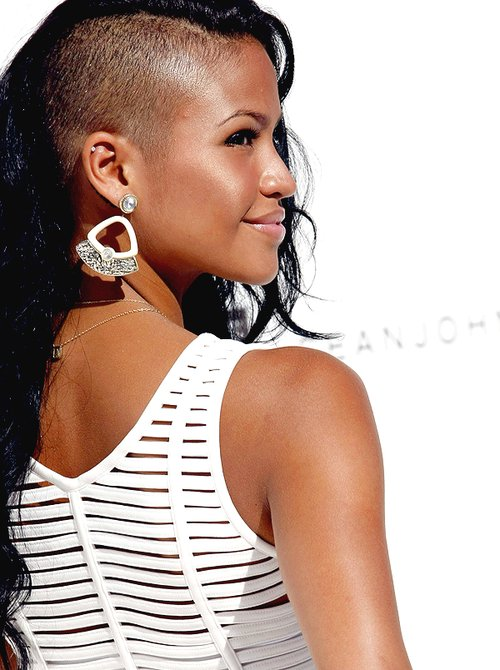 beauty, cassie ventura, hair, shaved, shaved hair
