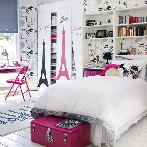 bed, bedroom, contrast, cute, decorative