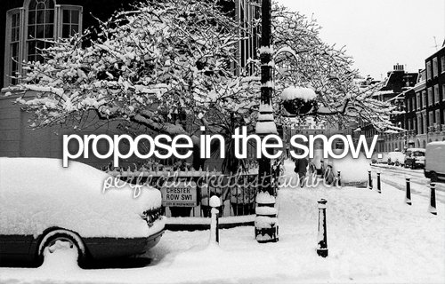 before i die, perfectbucketlist, proposal, propose, snow