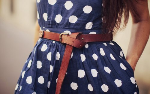 belt, blue, blue&white, cute, dress, fashion, girl, nice, style, vintage