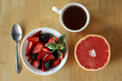 berries, food, grape, grapefruit, tea