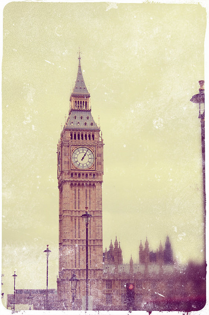 big ben, clock tower, cool, cute, dreamy, england, old, vintage