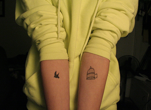 bird, freedom, tattoo