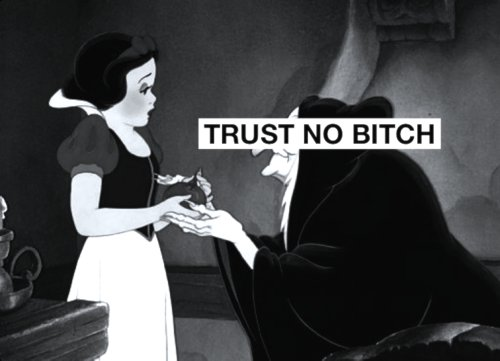 bitch, brance de neve, cartoon, text, trust