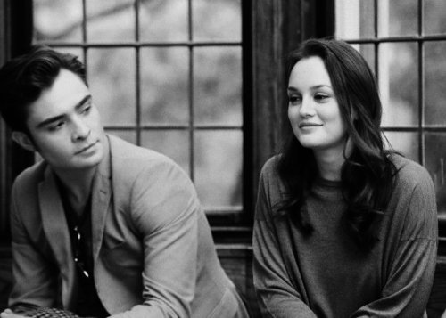 black and white, blair waldorf, chuck bass, couple, cute