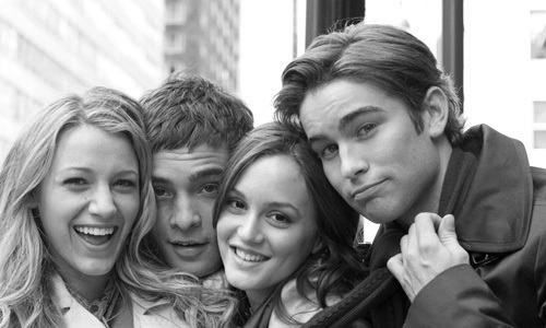 black and white, blake lively, chace crawford, cute, ed westwick, gossip girl cast, tv show, leighton meester