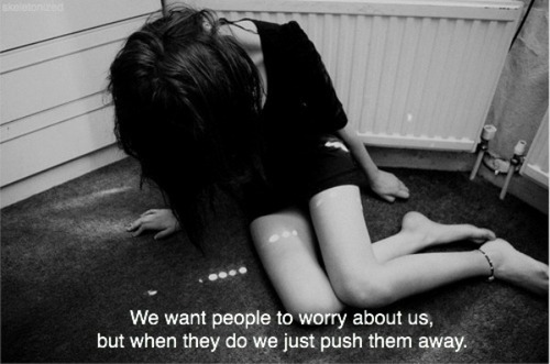 black and white, care, girl, help, push away, quote