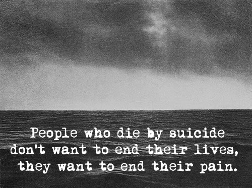 black and white, dead, ocean, pain, quote, suicide