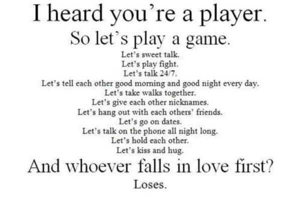 black and white, game, lose, love, play, player, text
